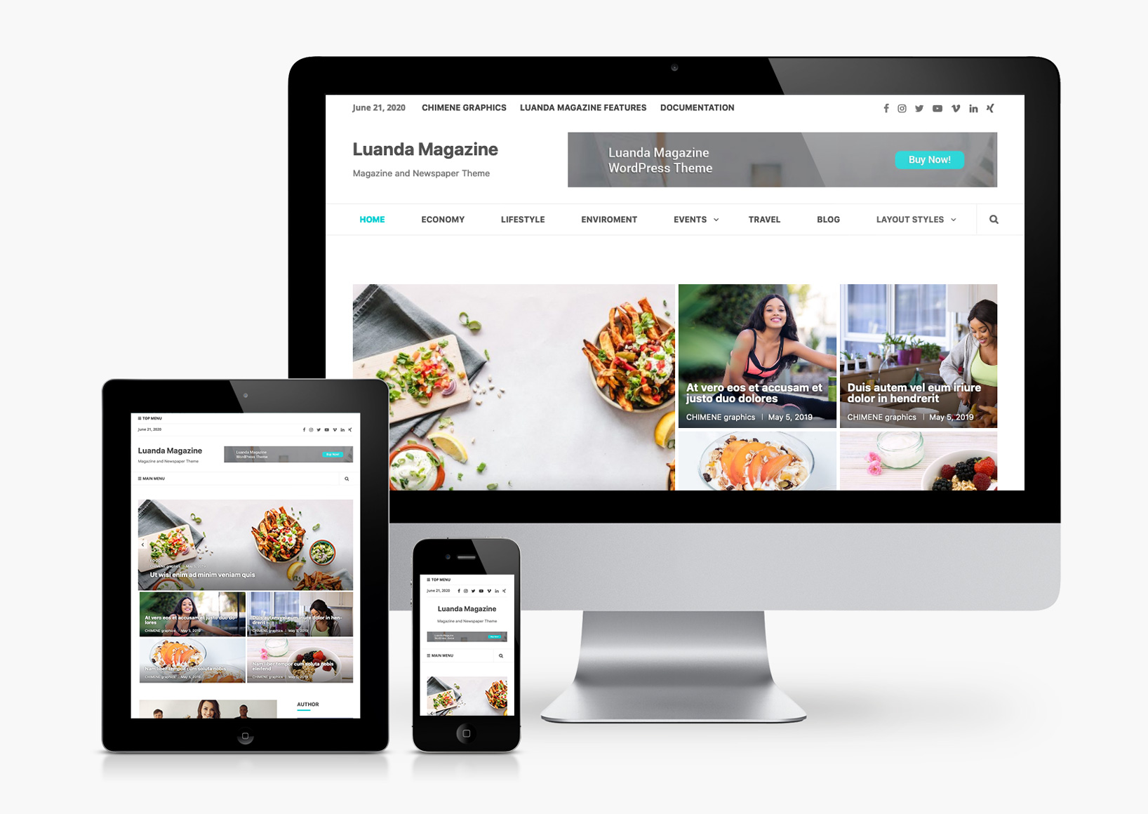 Luanda Magazine WordPress Theme